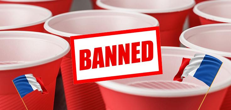 France bans plastic tableware